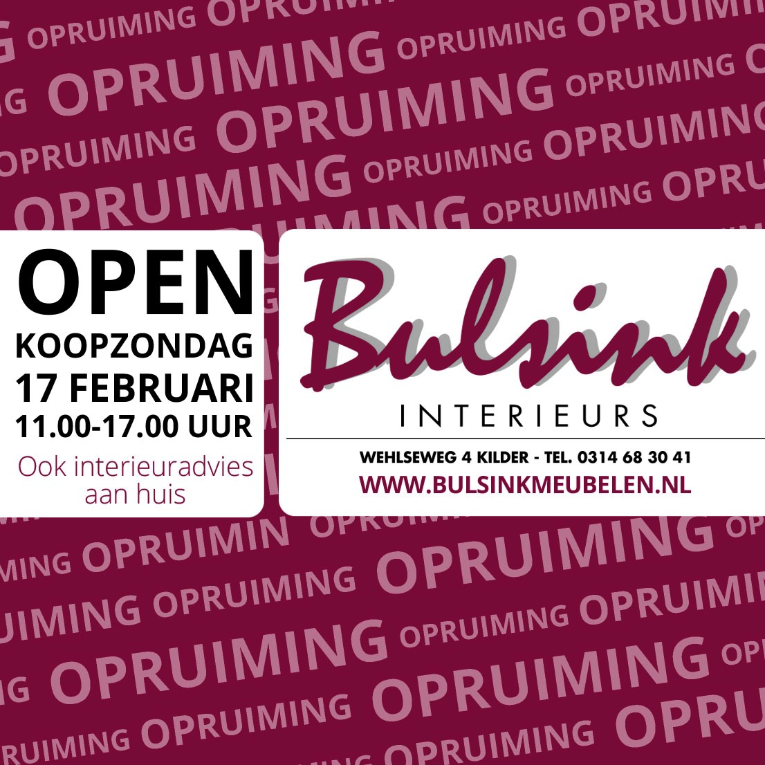 Digitale Bulsink advertentie