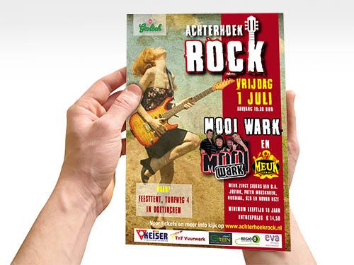 Achterhoek rock festival flyer